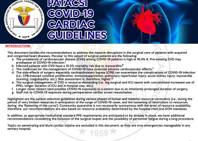 Cardiac Guidelines on Covid19 Page 1