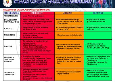 Vascular Guidelines on Covid19 Page 6